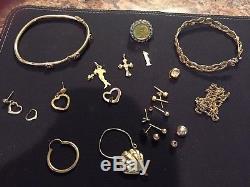 10k Lot scrap 27 grams. Panda Coin Ring- 2 charms 18k & 14k, etc. MAKE OFFER