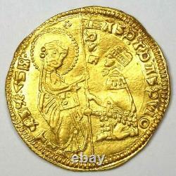 1343-54 Italy Andrea Dandalo Venice AV Ducat Gold Coin Good VF / XF