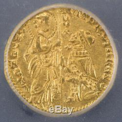 1368-1382 Italy Gold Ducat Coin Andrew Contarini Icg Ms63 Lot#e906