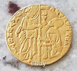 1382-1400 A. D Italian medieval gold coin of Venice Antonio Venier zecchino ducat