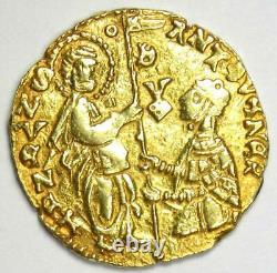 1382-1400 Italy Chios Imitative Gold Ducat Coin of Antonio Venier AU Details