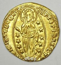 1414-1423 Italy Venice Mocenigo AV Gold Ducat Christ Coin XF / AU Details