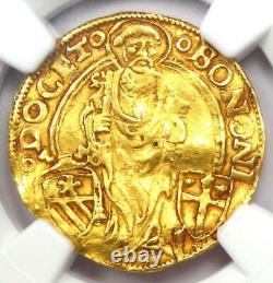 1492 Italy Papal States Bologna Gold Alexander VI Ducat Coin NGC AU Details