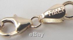 14K Yellow Gold Charm Bracelet Italian 9 Coins QVC J28896 7.75