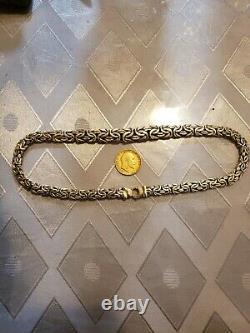 14k gold chain + 22k gold coin