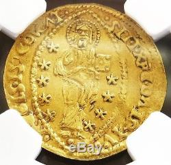 1523-1539 Gold Venice Italy Ducat Doge Andrea Gritti Ngc About Uncirculated 55