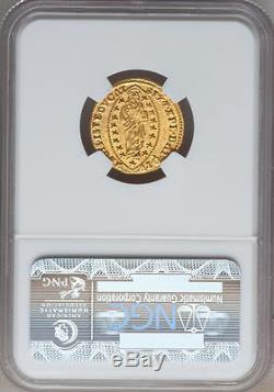(1595-1605) Italy (venice) Gold Zecchino Ngc Ms-63 Fr-1274