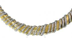 $16000 ROBERTO COIN 18K White and Yellow Gold Nabucco Diamond Necklace