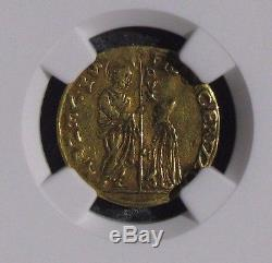 (1631-46) ND Italy 1 Zecchino Gold Venice Francesco Erizzo NGC XF40 FR#1310
