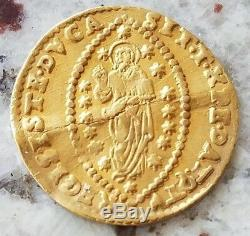 1659-1675 A. D. 995 gold ducat coin of Venice Domenico II Contarini zecchino