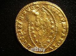 1687 Islamic Arabic Ottoman Turkey Suleyman II Venetian Zecchino Gold Coin Rare
