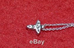 16-Inch 18KT White Gold Chain with Cross Pendant Necklace by Roberto Coin, Italy