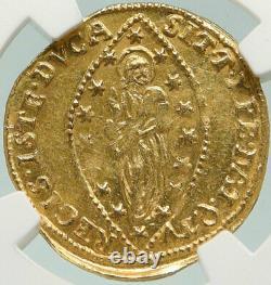 1752 ITALY Italian VENICE Doge Francesco Loredan GOLD Zecchino Coin NGC i84932