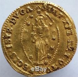1763-78 Gold Zecchino Venice, Alvise Mocenigo Iv, Rare