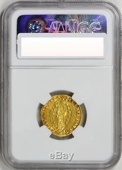 1763-78 Gold Zecchino Venice, Alvise Mocenigo Iv, Rare, Ngc Ms-63