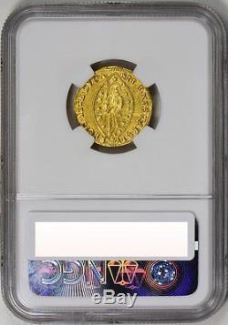 1763-78 Gold Zecchino Venice, Alvise Mocenigo Iv, Rare, Ngc Unc