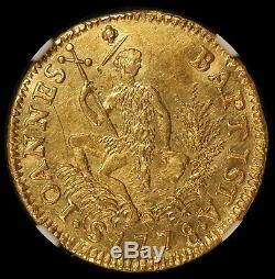 1778 Italy Tuscany 3 Zecchino Ruspone Gold Coin NGC UNC Details RARE C# 28
