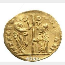 (1789-1797) Italian Venetian Ludovico Manin Gold Zecchino 1 Ducat Coin #23200