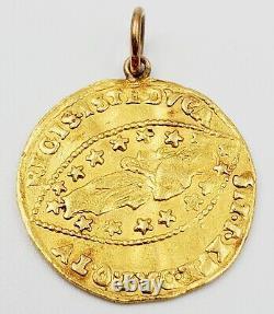 1789-1797 Venice Gold Zecchino Ducat Ludovico Manin Coin/Necklace Pendant 3.37g