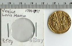 1789 1797 Venice Italy Ludovico Manin Old Gold Ducat Coin