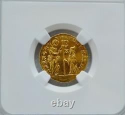 1789-97 Italy Zecchino Ducat Venice Ludovico Manin Gold NGC MS64 RARE High Grade