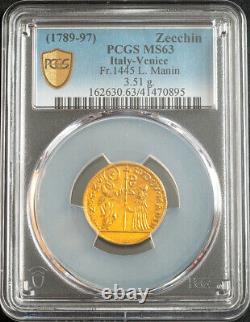 1789, Venice, Ludovico Manin. Gold Zecchino Ducat Coin. (3.51gm!) PCGS MS-63