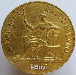 1798 Gold 96 Lire Italy Ligurian Republic, Very Rare Type