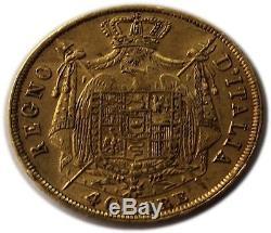 1808-m Italy Kingdom Of Napoleon Gold 40 Lire