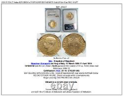 1810/09 ITALY Italian KINGDOM of NAPOLEON BONAPARTE Gold 20 Lire Coin NGC i84257