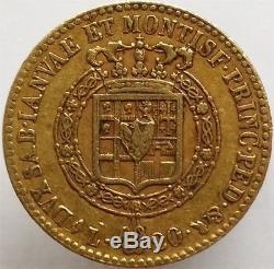 1817 Gold 20 Lire Italy Sardinia, Very Rare, Superb Condition