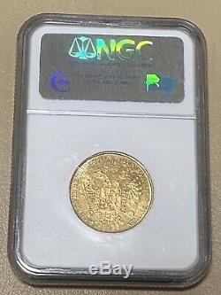 1830/20m Lombardy Italy Venetia 1 Sovrano Gold Ngc Ms 62 Rare Coin