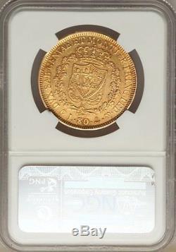 1830 Genoa Gold 80 Lire Italy Sardinia, Scarce, Ngc Xf-45