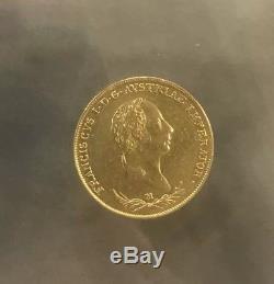 1831 Rare Lombardy Italy Austria Venetia 1 Sovrano Gold Coin