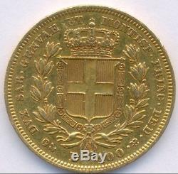 1834 Gold 100 Lire Italy Sardinia, Beautiful, Very Scarce
