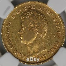 1838-P Italy Sardinia Gold 20 Lire NGC XF45 Anchor