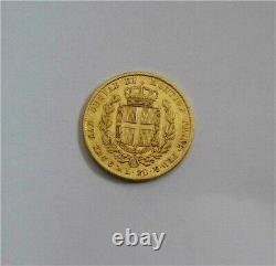1841-P Italy Kingdom Of Sardinia 20 Lire Gold Coin Key Date XF