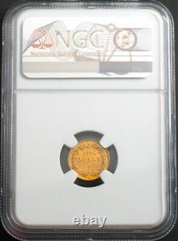 1853, Vatican, Pope Pius IX. Gold Scudo Romano Coin. (1.72gm!) NGC AU-55