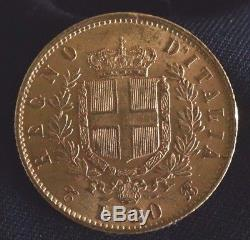 1862 GOLD Italy 20 Lire Coin VITTORIO EMANUELE II. T BN (A2968)