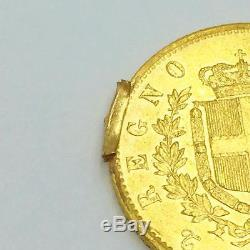 1862 Italy Vittorio Emanuele II 20 Lire Fine Gold Coin. 20 Troy Ounces