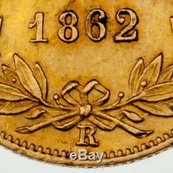 1862-X Italian Papal States 1 Scudo Gold Coin VF NET Condition KM #1361
