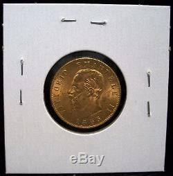 1865 Italy 20 Lire Gold Coin Free Shipping