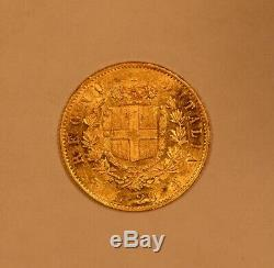 1865 Italy gold 20 Lire for Vittorio Emanuele II