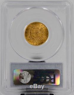 1865-T BN PCGS MS63 Gold Italy 20 Lire #1617