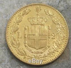 1881 Italy 20 Lira Gold Coin