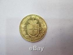 1882 Italy 20 Lire Gold Coin