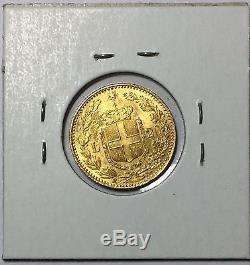 1882 Italy Gold 20 Lira UNC