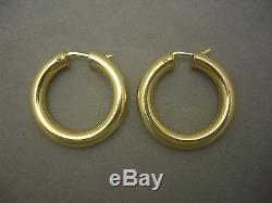 18k Gold Roberto Coin Hoop Earrings 5.77 Grams Not Scrap