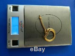 18K SOLID YELLOW KEY CHAIN ITALY 6.14g