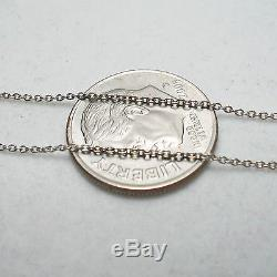 18K White Gold Cable Chain Adjustable 16 or 18 1.67 Grams 1226 VI ROBERTO COIN