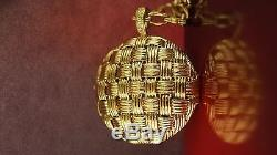 18K Yellow gold Roberto Coin Large Locket Necklace with 30 heavy chain